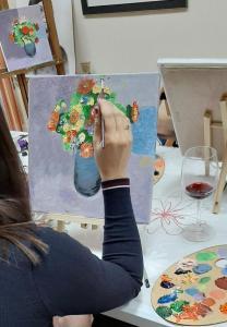 Рисуване и вино
