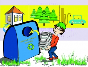 Илюстрация за рециклирането