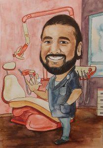 карикатура за зъболекар